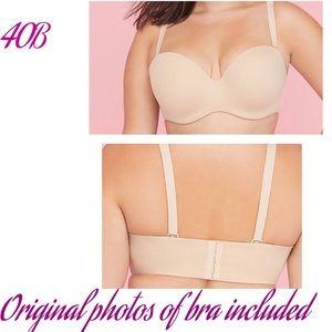 Cacique (cafe mocha) 7 way removable strap bra 40B